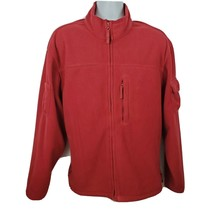 Duluth Trading Company Red Fleece Full Zip Up Utility Jacket Mens Size L - $59.39
