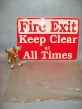 Fire Exit Keep Clear at All Times  Emedco 35302 Sign - $35.17