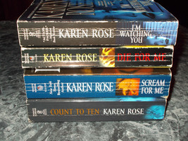 Karen Rose lot of 4 romantic suspense paperbacks - $4.99
