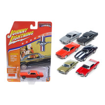 Muscle Cars USA Set of 6 1/64 Diecast Model Cars by Johnny Lightning JLM... - $61.37