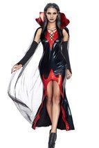 2 PCS  FAUX Leather Women Killing It Halloween Costume Dress