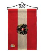 Austria w/Eagle Burlap - Impressions Decorative Metal Wall Hanger Garden... - $33.97