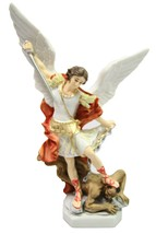 "11"" Saint Michael Archangel Catholic Religious Statue Sculpture Vittoria... - $64.99"