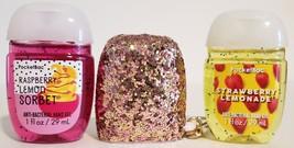 Bath and Body Works pocketbac holder - Rose Gold sparkle + 2 hand sanitizer - $17.99