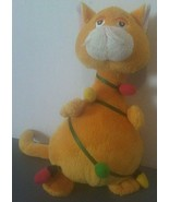 "Ganz Tangled Cat Christmas Lights Plush Stuffed Animal 8"" - $19.75"