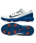NIKE LUNAR COMMAND 2 GOLF SHOES WHITE/BLUE/RED SIZE 10 NEW W/BOX (849968... - $69.20