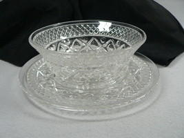 "Vtg. Glass Bread Plate and Bowl 7"" 2 pc. set  - $22.28"