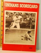 1972 Cleveland Indians Baseball Program v Red Sox scored June 26 - $9.89