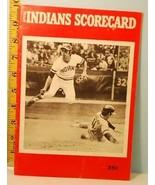 1972 Cleveland Indians Baseball Program v Red Sox scored June 26 - $9.89