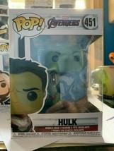 new Funko POP Hulk Marvel Avengers 451 perfect box  - $4.75