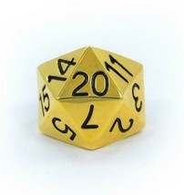 Han Cholo Silver Gold Plated Surgical Stainless Steel His/Her D20 Dice Ring NEW image 1