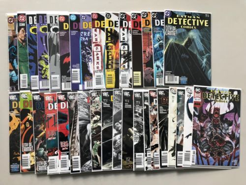 Lot of 35 Detective Comics (1937 1st Series) from #670-971 FN-VF Very Fine