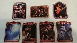 6 Collectible KISS Trading Cards Aucoin Mgt 1978  - $23.33