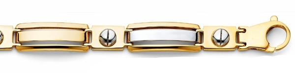 Men's 14K Two Tone Peg Link Bracelet image 3