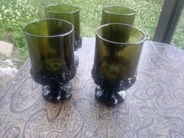 Set of 4 Franciscan Tiffin Madeira Olive Green JUICE/WINE Glass Goblet  ... - $13.99