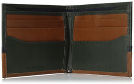 NEW TOMMY HILFIGER MEN'S PREMIUM LEATHER DOUBLE BILLFOLD WALLET OLIVE 31TL13X041 image 4