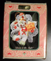 Enesco Christmas Ornament 1995 Wing And A Prayer Jesus Is The Light Orig... - $7.99