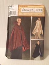 Simplicity Sewing Pattern 4947 Vintage Closet Hooded Cape Miss One Size New  - $19.79