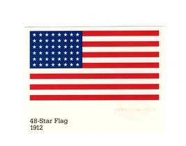 Picture POSTCARD-48 Star Flag 1912-STARS & Stripes SERIES- First Day Issue BK9 - $1.94