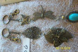 # purse jewlrey bronze color keychain backpack filigree charms lot 06 lot of 2 image 3