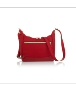 $90 TravelSmith Going Places Anti-Theft RFID Crossbody Bag -RED- - $39.60
