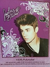Justin Beiber Fleece 50x60 Throw Blanket - Scrolly Design by Lady Sandra - $13.77 CAD