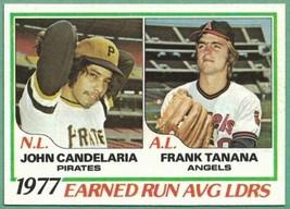 1978 Topps #207 ERA Leaders John Candelaria Frank Tanana - $1.00