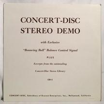 CONCERT-DISC STEREO DEMO Vintage Test LP Album Record Vinyl US Everest C... - $14.84