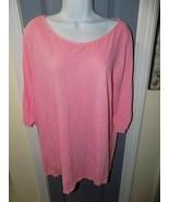 FRESH PRODUCE Peach Cotton Catalina 3/4 Tie Sleeve Shirt Size L Women's EUC - $22.68