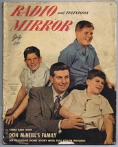 ORIGINAL Vintage July 1948 Radio Mirror Magazine Don McNeill - $18.51