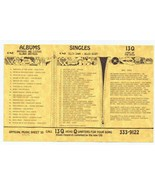 13Q WKTQ Pittsburgh VINTAGE Sept 21 1973 Music Survey Dark Side of the Moon - $13.99