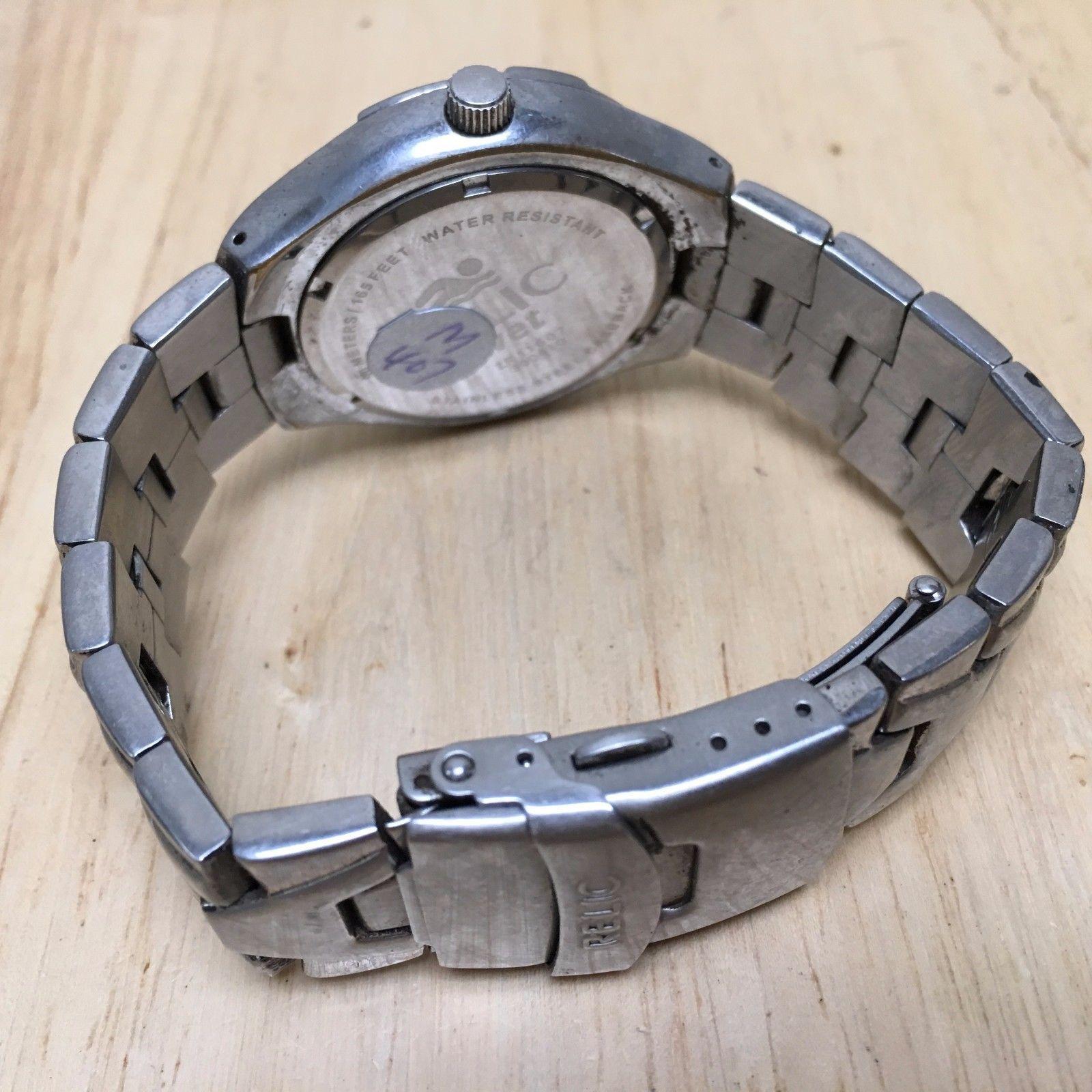 Vintage Relic Wet Mens Moving Bezel Analog Quartz Watch Hours~Date~New Battery