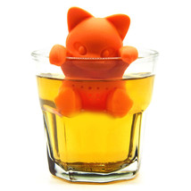 1Pc Creative Cat Shaped Tea Strainer Filter Food Grade Silicone Lovely - £6.28 GBP