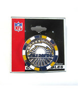 Los Angeles San Diego Chargers NFL Poker Chip Silvertone Metal Lapel Pin  - $9.50