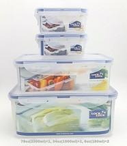 Lock & Lock Plastic Food Storage Airtight Container Set 2300ml/78oz+1000... - €22,66 EUR