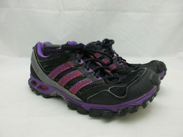 Adidas Kanadia TR5 Trail Running Shoes Women's Size 7.5 Black and Purple - $30.81