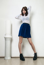 80s vintage reworked velvet skirt - $34.91