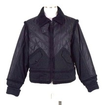 Tommy Hilfiger Black Out Puffer Bomber Jacket Zip Up Youth Girls Size XL - $24.74