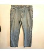 Wrangler Blue Jeans 42 x 30 Regular Fit Straight Leg Stonewashed Denim 9... - $19.80