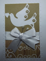 "Wedding card / ""May your new lives together abound in love today, tomorr... - $7.50"