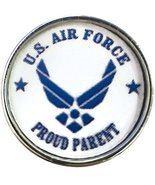 US Air Force Proud Parent Support Our Military Troops 18MM - 20MM Snap C... - $5.83
