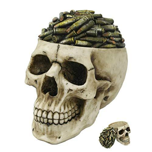 Primary image for Pacific Giftware Bullets Top Skull Box Container Home Tabletop Decorative Resin