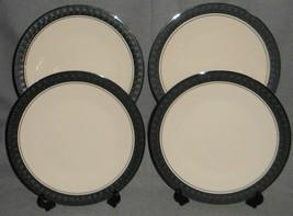Set (4) Franciscan Masterpiece China Midnight Mist Pattern Salad Plates Usa - $98.99