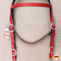 Western Horse Headstall Tack Bridle American Leather Draft U-S-VX - $49.45