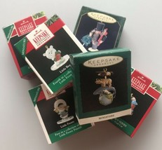 Hallmark Christmas Ornaments Keepsake Miniature 1990's Santa Xmas Lot (6) - $20.78