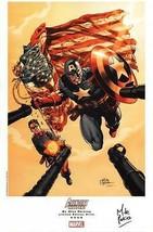 Mike Perkins SIGNED LE Marvel Art Print Avengers / Invaders Captain Amer... - $29.69
