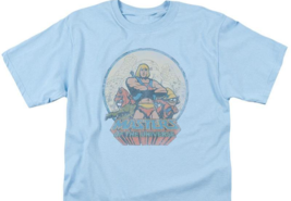 He-Man Masters of the Universe Retro 80's cartoon distressed blue t-shirt DRM267 image 3