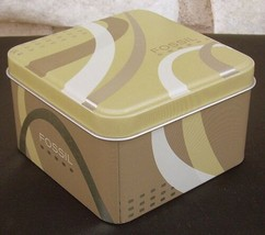 Fossil Advertising Tin Geometric Gold Silver SBT0893 11 07 Empty Box 2008 - $9.99