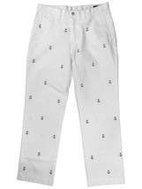Ralph Lauren Polo Mens Classic Fit All Over Anchor Pants White/Navy NEW 34 36 - $79.99