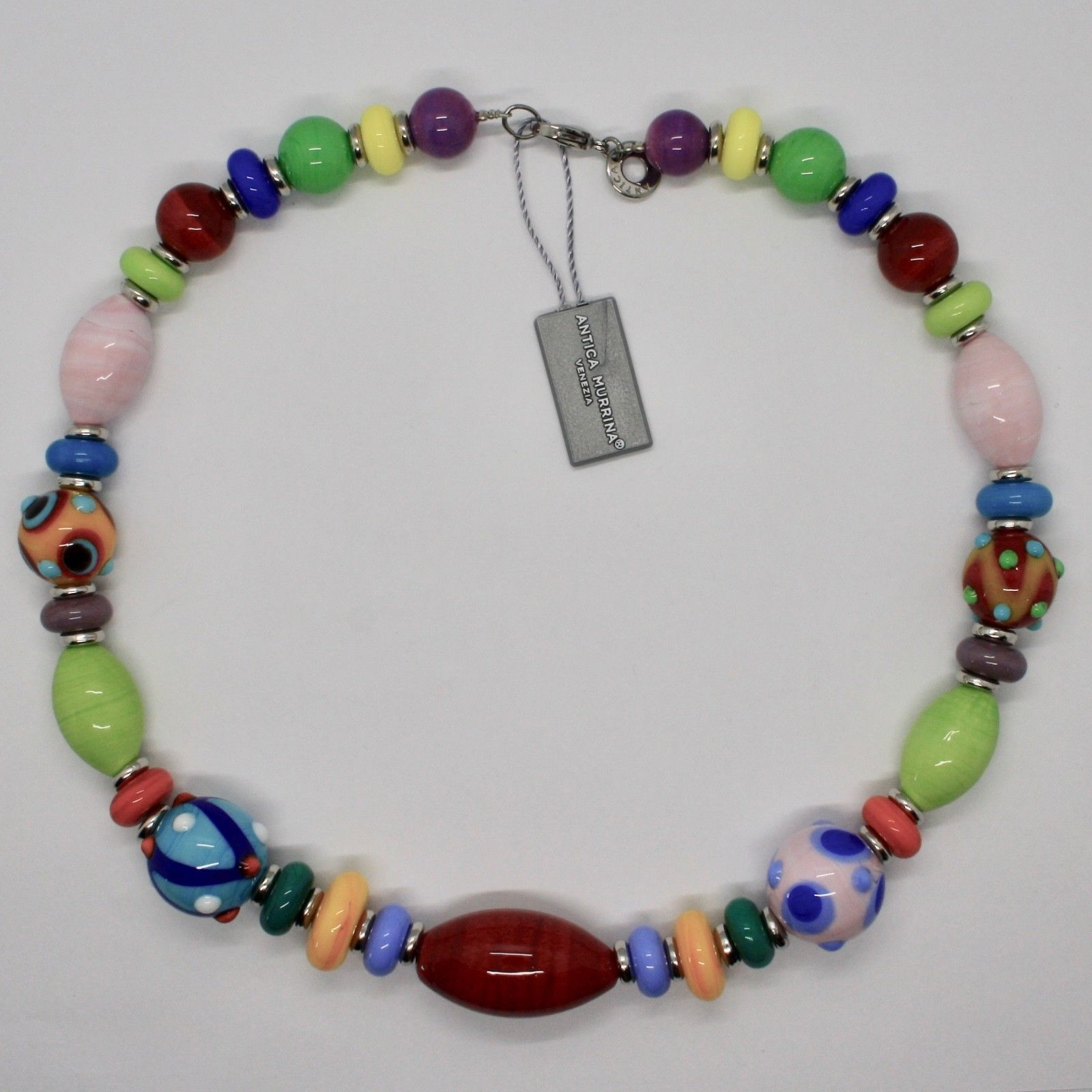 ANTICA MURRINA VENEZIA NECKLACE WITH MURANO GLASS MULTICOLOR CO204A00